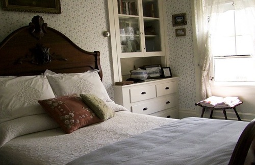 Lizzie Borden's bedroom at the Lizzie Borden Bed and Breakfast Museum in Fall River, Massachusetts