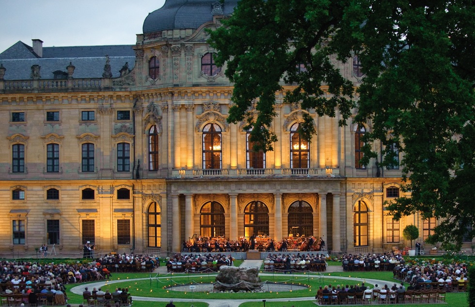 Outdoor concert at the Würzburg Residence in Germany