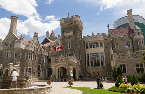 The exterior of Casa Loma, Toronto's castle