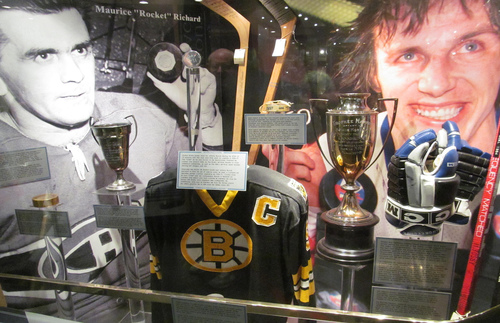 The Great Hall, or trophy room, of the Hockey Hall of Fame, home to the Stanley Cup