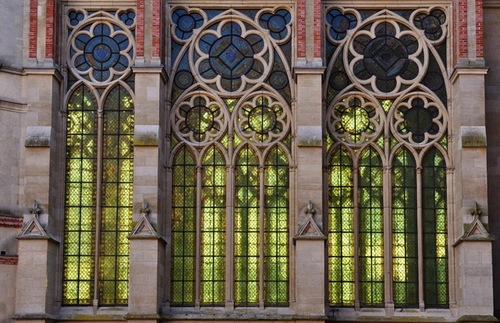 Window of the chapel at Château de Saint-Germain-en-Laye in France