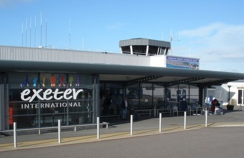 Exeter Airport in the U.K.
