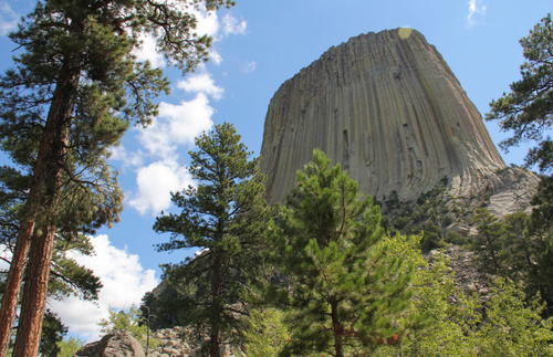 Hike around or climb Devil's Tower, America's first established national monument.