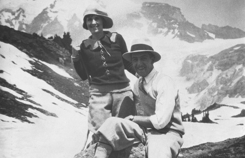 Walt Disney at Mt. Rainier in 1925
