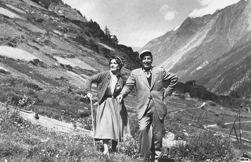 Walt and Lillian Disney at Zermatt, Switzerland, 1953