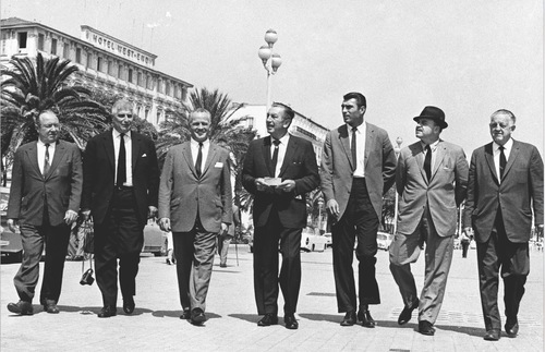 Walt Disney and film crew in Nice, France, 1962