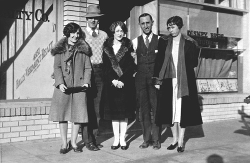 Walt Disney at his first studio in Hollywood, California, in 1923