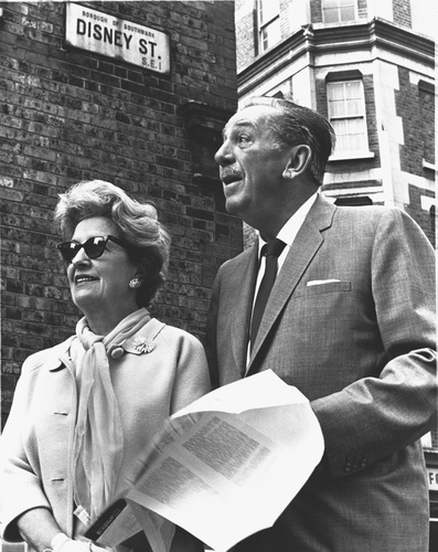 Walt and Lillian Disney in London, 1966