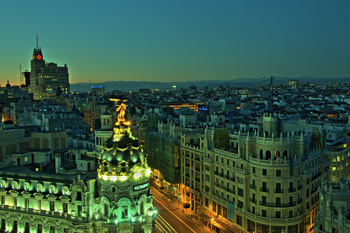 Take the elevator to the bar on top of the Circulo de Bellas Artes for some of the best views in Madrid.