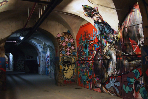 Visit this reclaimed tobacco factory to learn about Madrid's underground art scene.