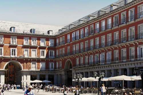 Stop by one of Madrid's many picturesque plazas.