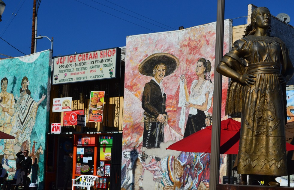 Mariachi Plaza in Boyle Heights, Los Angeles