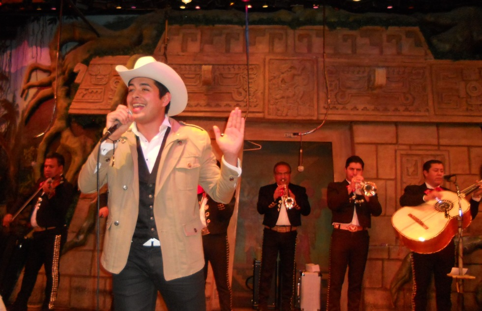 A musical performance at El Mercadito in Los Angeles