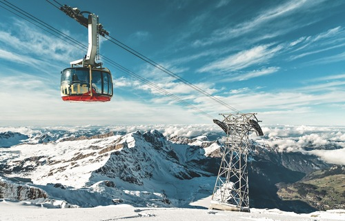 Getting to Titlis in Switzlerland