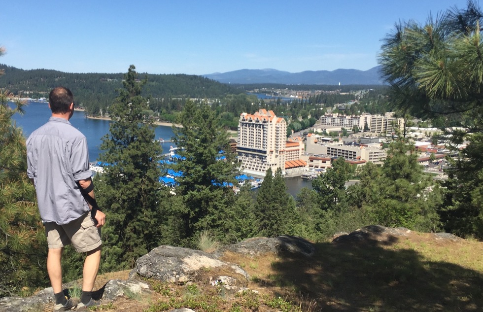 Overlooking the Coeur d'Alene Resort in Idaho