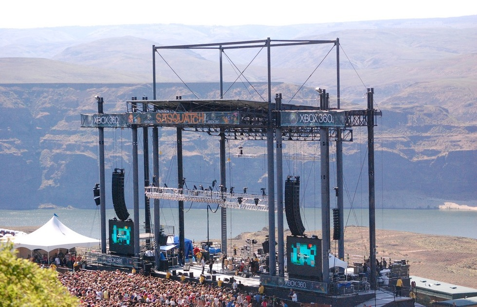Great outdoor music venues worldwide: Gorge Amphitheatre, Columbia River Valley, Washington