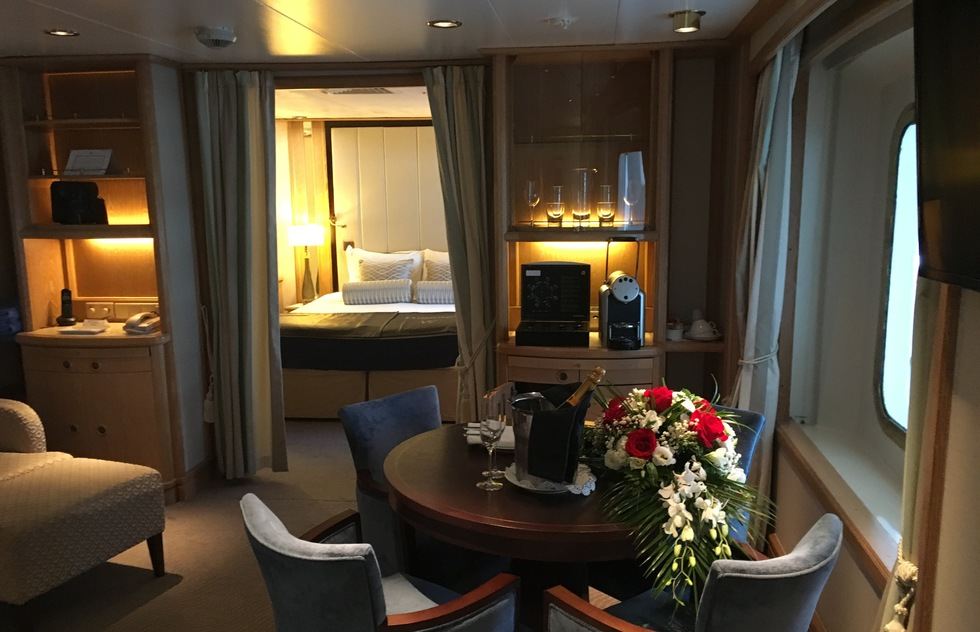 Windstar Cruises: Star Pride Owner's Suite Living Room