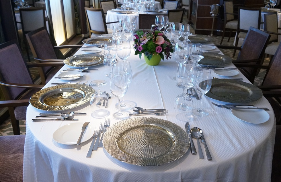 Windstar Cruises: Star Pride Set Dining Table