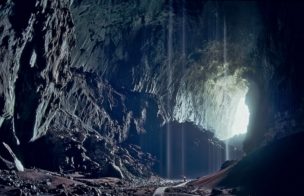 The entrance to the Deer Cave in Malaysia