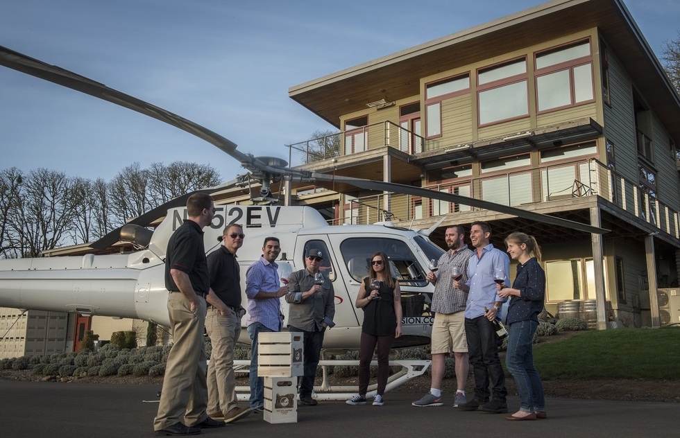 Wine Tasting Tour Experiences: Helicoptering in Oregon
