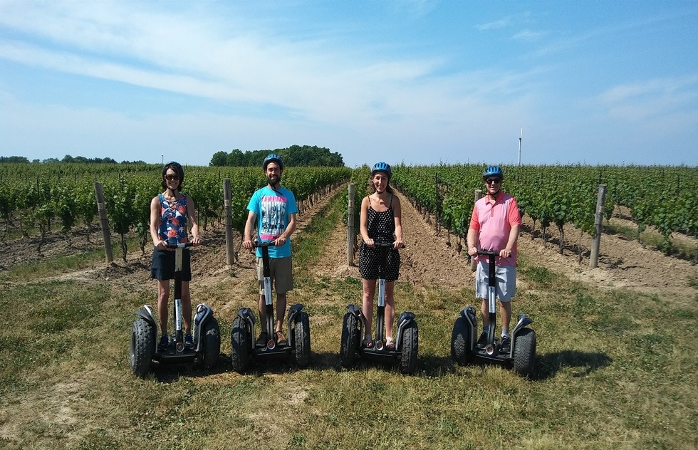 Wine Tasting Tour Experiences: Segway through the vineyards in Niagara-on-the-Lake, Ontario