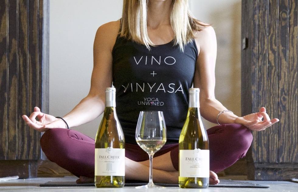 Wine Tasting Tour Experiences: Yoga and sip in Austin and New York