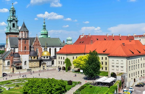 Wawel Castle and Cathedral in Krakow, Poland