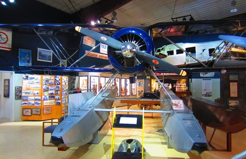 An exhibit at the Alaska Aviation Heritage Museum