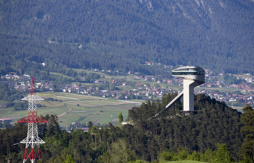 The famed Bergisel Ski Jump Tower