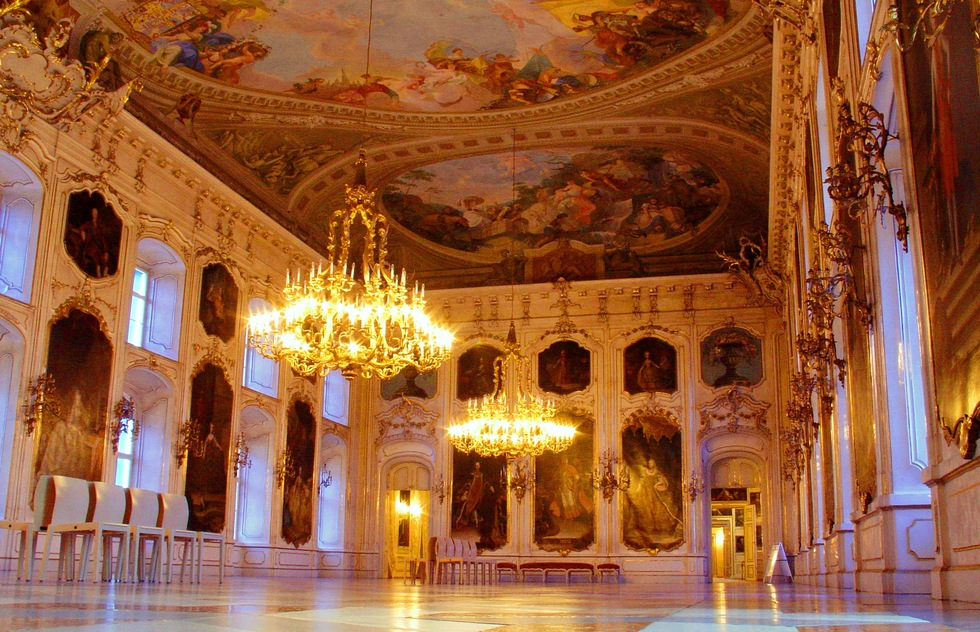 The Giant's Hall in the Hofburg of Innsbruck.