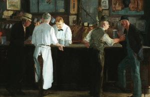 """McSorley's Bar"" (detail) by John French Sloan, 1912. The Detroit Institute of Arts, Public Domain"