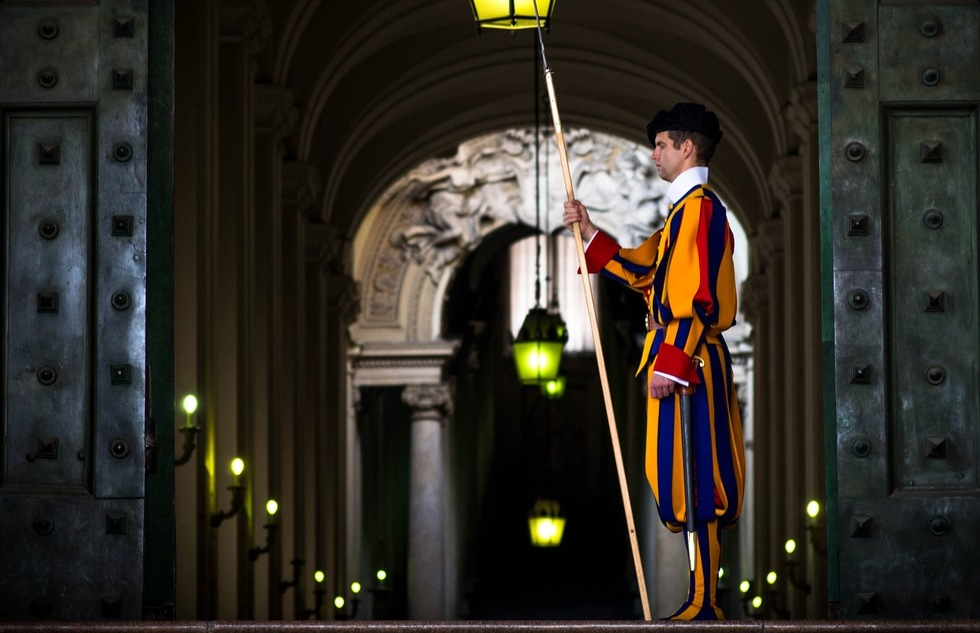 Swiss Guard at the Vatican in Rome