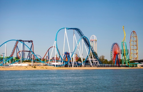 Best Lakefront Hotel Trips for Families in the USA and Canada: Hotel Breakers at Cedar Point on Lake Erie, Ohio