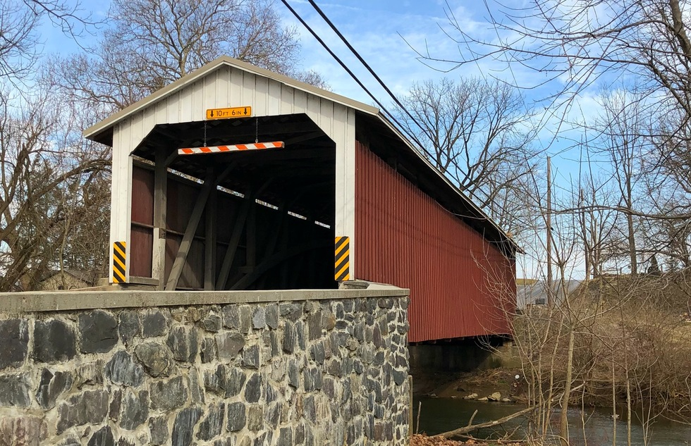 Covered bridge in Lancaster County, Pennsylvania