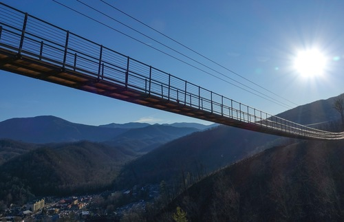 Stroll Above the Smokies on the USA's Longest Pedestrian Suspension Bridge | Frommer's