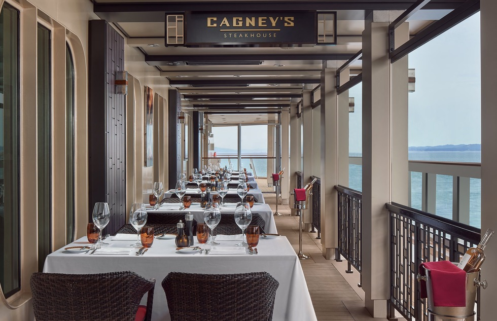 Cagney's Steakhouse on the Norwegian Joy cruise ship