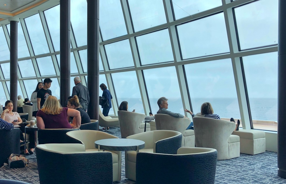 Observation Lounge on the Norwegian Joy cruise ship