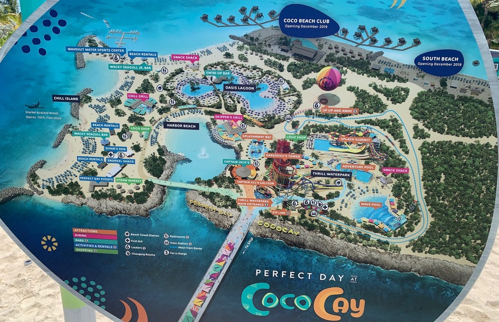 coco cay bahamas map Royal Caribbean S Perfect Day At Cococay What To Expect How To coco cay bahamas map