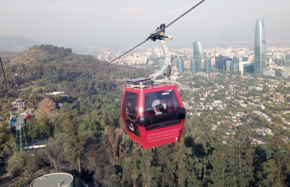 Aerial tramway in Santiago, Chile