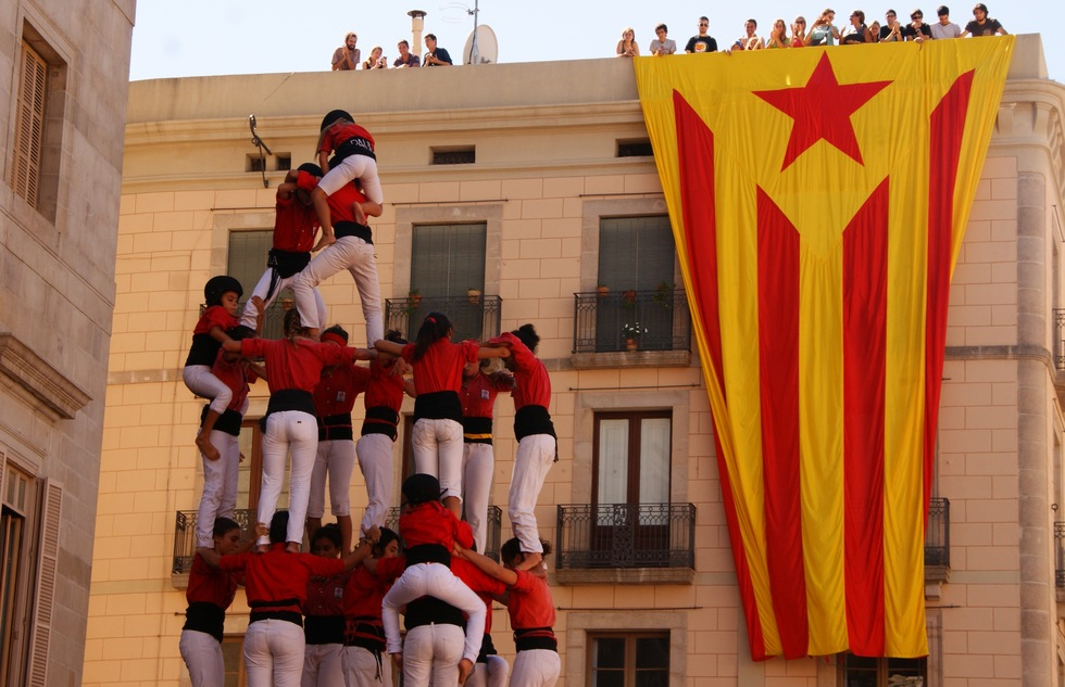 Human tower at Barcelona's La Mercè festival