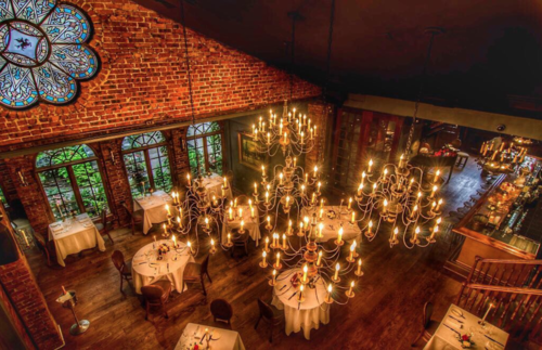 Romantic and historic restaurants and landmarks in New York City