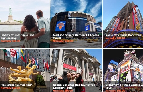 Screenshot of attractions available with New York Explorer Pass