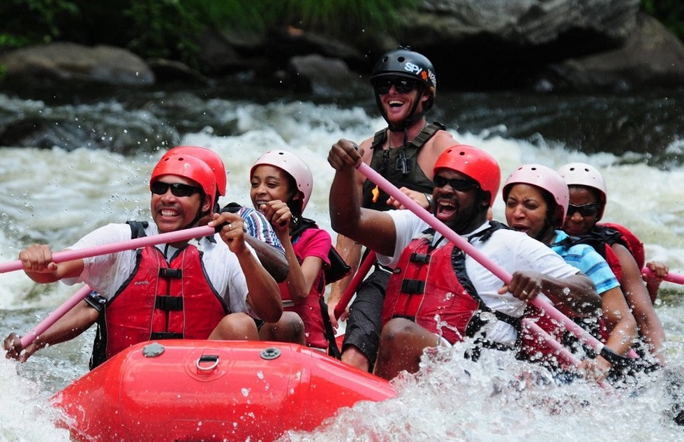 Whitewater rafting in the Great Smoky Mountains