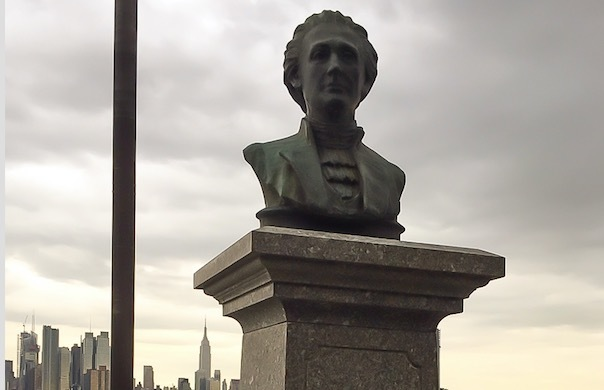Alexander Hamilton bust at the Weehawken Dueling Grounds in New Jersey