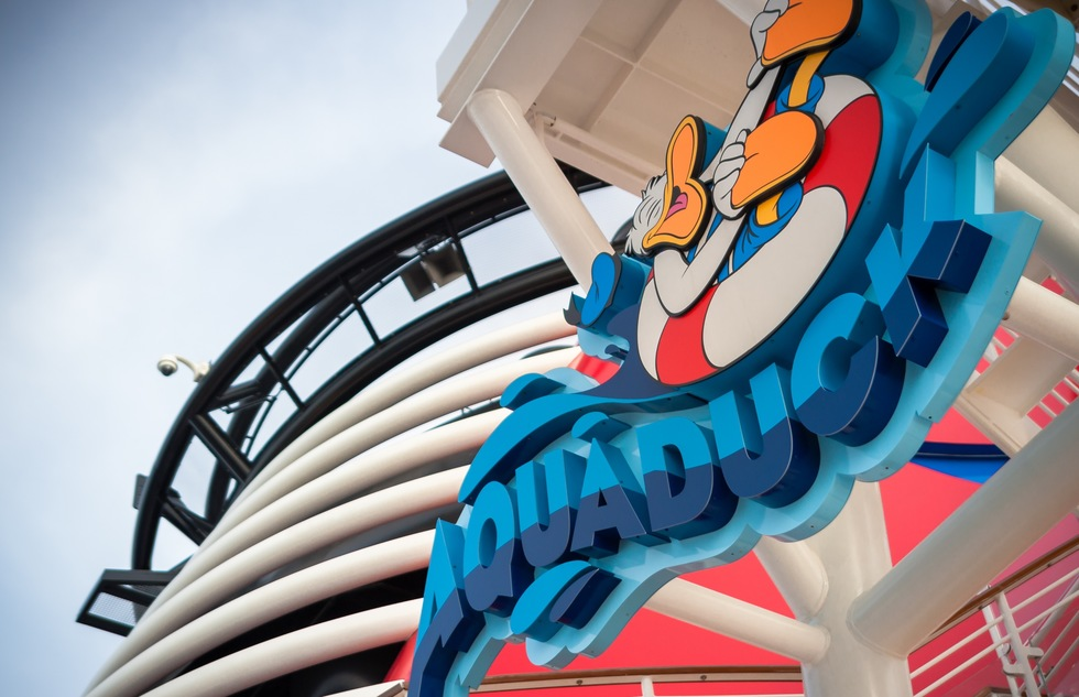 Disney Cruise Line's AquaDuck water coaster