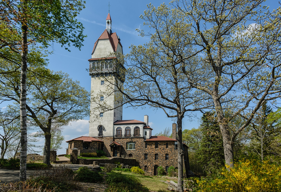 The Heublein Tower at the top of Talcott Mountain has a museum and a 360 view of Connecticut