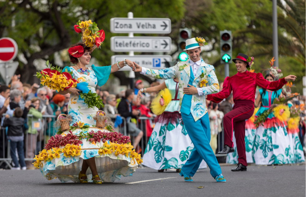 Carnival in Funchal on the Portuguese island of Madeira