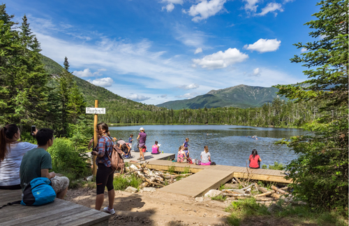 Lonesome Lake at Franconia Notch State Park in New Hampshire