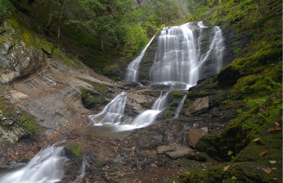 Stowe's Moss Glen Falls are perfect for wading in the summer