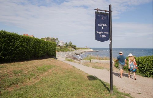 Ocean views and mansions await at Newport's Cliff Walk